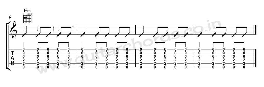 Guitar Strumming Pattern 09